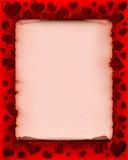 De Achtergrond van de Kaart van de Dag van valentijnskaarten Stock Fotografie