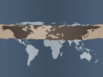 De Achtergrond van de Kaart van de wereld Royalty-vrije Stock Foto's