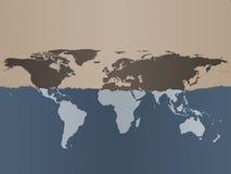 De Achtergrond van de Kaart van de wereld Stock Afbeelding