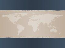 De Achtergrond van de Kaart van de wereld Royalty-vrije Stock Afbeeldingen