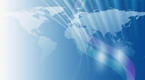 De Achtergrond van de Kaart van de wereld Stock Foto's
