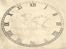 De Achtergrond van de Kaart van de wereld Stock Afbeeldingen