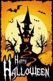 De Achtergrond van de Kaart van Halloween Stock Afbeelding