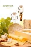 De achtergrond van de kaas Stock Afbeeldingen