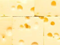 De achtergrond van de kaas Stock Foto
