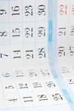 De achtergrond van de kalender Royalty-vrije Stock Foto