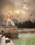 De Achtergrond van de Kalmte van vechtsporten Royalty-vrije Stock Afbeeldingen