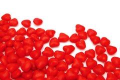 De achtergrond van de kaneelharten van de Dag van valentijnskaarten Stock Foto