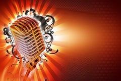 De Achtergrond van de karaoke Stock Afbeelding