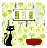 De achtergrond van de kat stock illustratie
