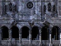 De achtergrond van de kathedraal vector illustratie