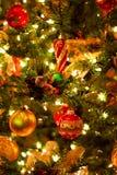 De achtergrond van de kerstboom Stock Afbeelding