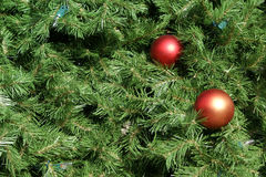De Achtergrond van de kerstboom Royalty-vrije Stock Foto's