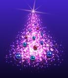 De Achtergrond van de kerstboom Stock Foto
