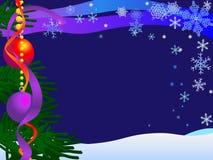 De Achtergrond van de kerstkaart stock illustratie