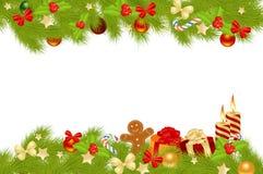 De achtergrond van de kerstkaart. royalty-vrije illustratie