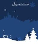 De achtergrond van de kerstkaart royalty-vrije illustratie