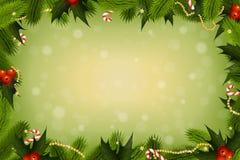 De achtergrond van de kerstkaart Royalty-vrije Stock Afbeeldingen