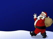 De Achtergrond van de kerstman Stock Foto's