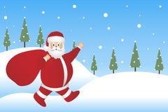 De achtergrond van de Kerstman royalty-vrije illustratie