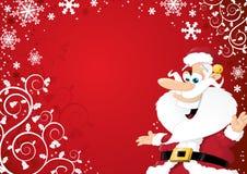 De Achtergrond van de Kerstman van het beeldverhaal Stock Foto