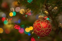 De achtergrond van de Kerstmisboom stock foto's