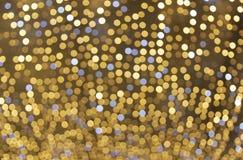 De achtergrond van de Kerstmisdecoratie bokeh van lichten het gloeien Stock Afbeelding