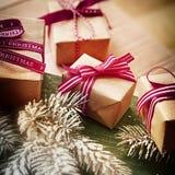 De Achtergrond van de Kerstmisgift Stock Fotografie