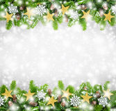De achtergrond van de Kerstmisgrens Royalty-vrije Stock Foto