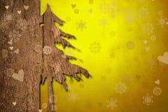 De achtergrond van de Kerstmisgroet Royalty-vrije Stock Afbeeldingen