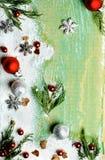 De achtergrond van de Kerstmisgroet Stock Fotografie