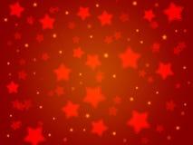De achtergrond van de Kerstmispartij van rode sterren Lichte gradiënt Royalty-vrije Stock Afbeeldingen