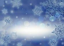 De achtergrond van de kerstnacht Stock Foto