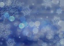 De achtergrond van de kerstnacht Stock Foto's