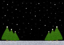 De Achtergrond van de kerstnacht royalty-vrije illustratie