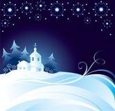 De achtergrond van de kerstnacht Royalty-vrije Stock Afbeelding