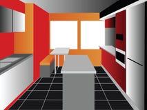 De achtergrond van de keuken Royalty-vrije Stock Foto