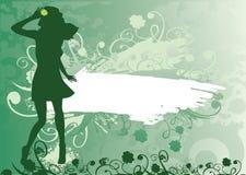 De achtergrond van de klaver Vector Illustratie