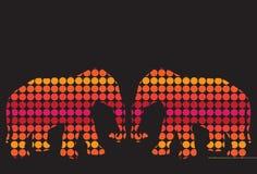 De achtergrond van de kleur met bloemolifant royalty-vrije illustratie