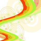 De achtergrond van de kleur met cirkels royalty-vrije illustratie
