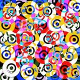 De achtergrond van de kleur met cirkels Stock Afbeelding