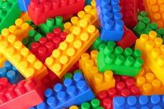 De achtergrond van de kleurenbakstenen van het stuk speelgoed Royalty-vrije Stock Afbeelding