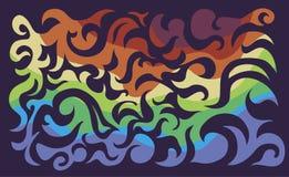 De achtergrond van de kleurenkrul stock foto's