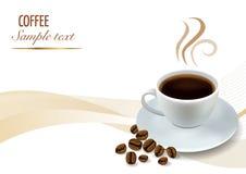 De Achtergrond van de koffie royalty-vrije illustratie