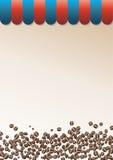 De achtergrond van de koffie met gestreepte piek Stock Foto's