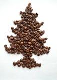 De Achtergrond van de koffiekerstboom Royalty-vrije Stock Afbeelding