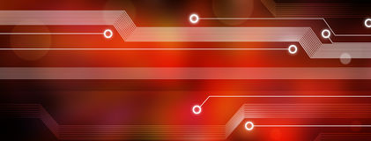 De Achtergrond van de Kring van de Computertechnologie Stock Fotografie
