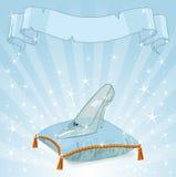 De achtergrond van de kristalpantoffel royalty-vrije illustratie
