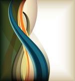 De achtergrond van de krommelijnen van de kleur Royalty-vrije Stock Afbeelding