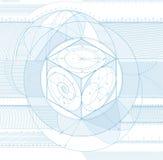 De achtergrond van de kubus Stock Afbeeldingen